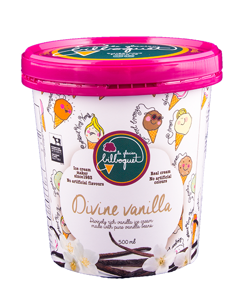Divine Vanilla Ice Cream - Luxury ice cream parlor, fine dairy shop, pro-environment company