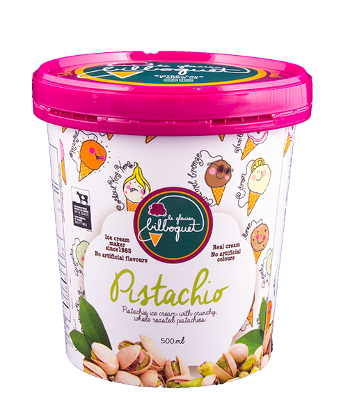 Pistachio Ice Cream - Finest ice cream, real fruit, nuts and dairy products, artisanal ice cream