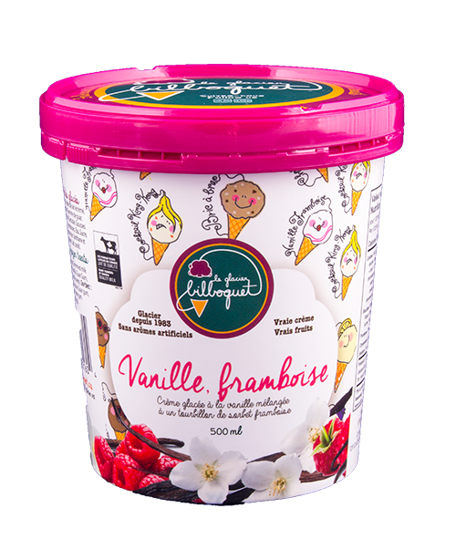 Rasberry Vanilla Ice Cream - Artisanal Dairy Shop, best ingredients, local fruits, best ice cream